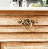 French Antique Washstand / Sideboard / Cupboard Vanity with Marble (5 of 7)
