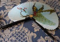 Unusual Vintage Black Framed Folding Fan - Ideal Gift (2 of 7)