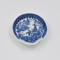 Caughley Porcelain Egg Drainer Fisherman / Pleasure Boat Pattern (2 of 7)
