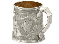 Chinese Export Silver Christening Mug - Antique c.1800 (6 of 12)