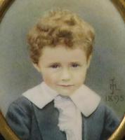 Miniature Portrait Little Boy Allan Pertwee by Mabel Jones 1895 (3 of 5)