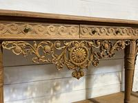 Wonderful French Walnut Console Table (3 of 36)