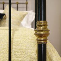 Highly Decorative Cast Iron Antique Bed in Black (8 of 9)