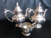 Two 'ONEIDA' Silver Plated Coffee Pots with Cream Jug (2 of 6)