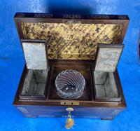 William IV Rosewood Tea Caddy With Mother of Pearl Inlay (9 of 15)