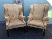 Pair of Antique English Upholstered Wing Armchairs for Recovering (10 of 12)