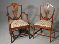 Most Elegant Set of 8 Early 20th Century  Walnut Framed Dining Chairs (4 of 5)