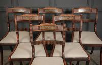 Set of 6 Regency Brass Inlaid Dining Chairs (2 of 16)