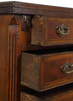 Small George II Style Walnut Bachelor's Chest (7 of 9)