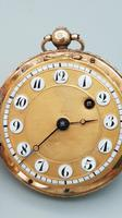 Rare 18th Century French 18k Gold Turquoise & Ruby Pocket Watch (6 of 10)