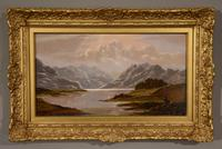 """Oil Painting Pair by Charles Leslie """"Mountain Landscapes"""" (5 of 9)"""