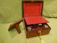 Unisex Rosewood Fitted Jewellery – Dressing Box. c1835 (4 of 12)