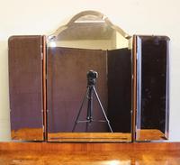 Antique Burr Walnut, Triple Mirror Shaped Dressing Table (12 of 12)