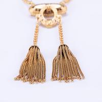 Antique Victorian Enamel 15 Carat Gold Tassel Necklace c.1860 (2 of 5)