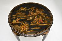 Antique Lacquered Chinoiserie Occasional Table (4 of 12)