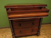 Antique Scottish Style Mahogany Chest of Drawers, Country House Chest (16 of 19)