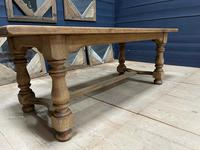 Deep Bleached Oak French Farmhouse Dining Table (11 of 20)