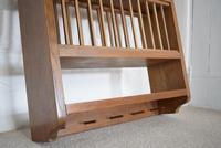 Solid Oak Wall Mounted Plate Rack (3 of 10)