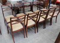 1960s -Set 10 Mahogany Sabre Leg Dining Chairs with Pop out Seats (3 of 3)