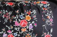 Early 19th Century Chinese Embroidered Silk Piano Shawl (12 of 15)