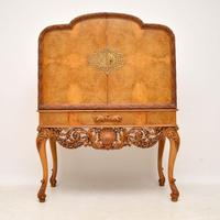 Antique Burr Walnut Cocktail Drinks Cabinet by Hille (2 of 11)