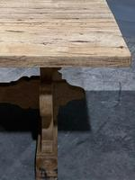 Large Rustic Bleached Oak Farmhouse Refectory Dining Table (9 of 25)