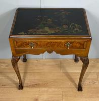 Lacquered Walnut Table with Drawer (6 of 9)
