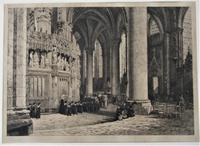 Fine antique print, Axel Herman Haig etching, Chartres Cathedral, signed 1881 (9 of 9)