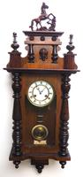 Victorian 8-day Wall Clock – Antique Striking Vienna Wall Clock by Hac (11 of 14)
