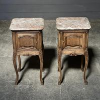 Pair of French Marble Top Bedside Cupboards (2 of 26)