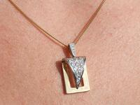 1.05ct Diamond & 18ct Gold Pendant - Vintage c.1960 (12 of 12)
