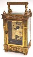 Fantastic French 8-day Fleur De Lis Decorated Panel 8-day Carriage Clock Timepiece c1890 (8 of 10)