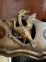 19th Century Mahogany Wall Mirror with Eagle Decoration (6 of 6)