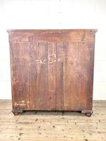 Large Victorian Oak & Mahogany Chest of Drawers (10 of 10)