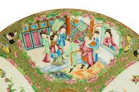 Late 19th Century Cantonese Porcelain Charger with Four Reserved Panels (2 of 5)