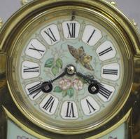 French Belle Epoque Brass and Porcelain Clock Set (16 of 17)