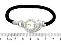 3.07ct Diamond Cocktail Watch in Platinum - Art Deco - French Antique c.1935 (7 of 12)