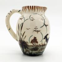 Guy Boyd : Australian Art Studio Pottery Jug Aboriginal & Kangaroo C.1950 (3 of 6)