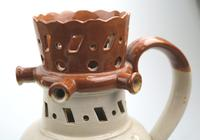 An Attractive Stoneware Pottery Staffordshire / Denby Puzzle Jug C.19thc (11 of 14)