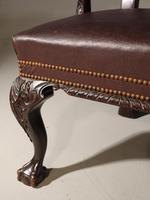 A Pair of Finely Carved Early 20th Century Mahogany Armchairs (5 of 7)