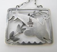 Beautiful Georg Jensen Vintage Silver Arno Malinowski Dolphin Design Pendant c.1935 (3 of 4)
