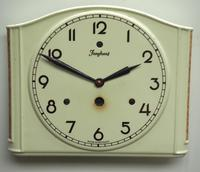 Awesome Kitch Ceramic Pot Clock – Junghans 1940s Kitchen Wall Clock (4 of 6)