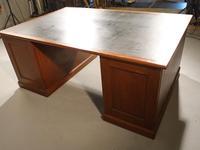 Early 20th Century Mahogany Partners Desk (5 of 5)