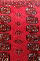 Handmade Bokhara wool rug vibrant red ground (7 of 11)