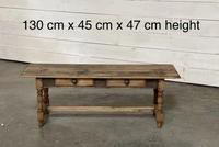 French Rustic Bleached Oak Coffee Table (2 of 17)