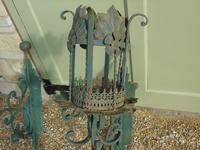 Antique Spanish Style Wrought Iron Wall Scones Set of Four (3 of 8)