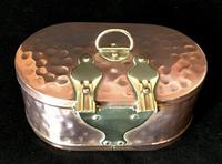 Arts & Crafts Brass and Copper Trinket Casket (3 of 4)