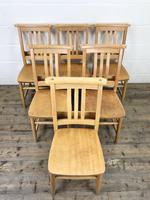 Set of Six Vintage Beech Chapel Chairs (7 of 19)