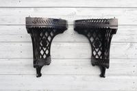 Aesthetic Movement, pierce-work corner shelves with galleries (a pair) c.1880 (5 of 35)