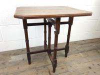 Antique 19th Century Mahogany Folding Table or Small Table (2 of 10)